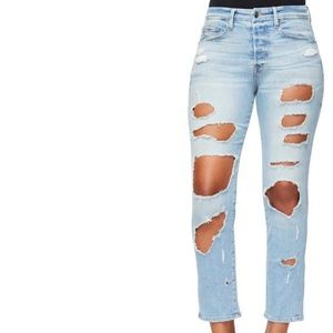 Good American Plus (22) Destruction Skinny Jeans